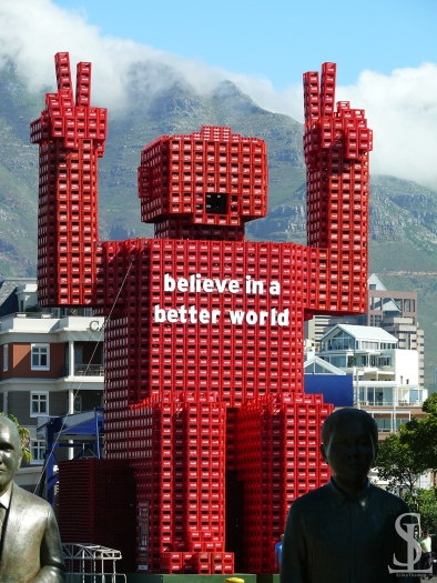 Cape Town - Mixture between Art & Coca-Cola advertisement