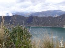 Quilotoa crater lagoon