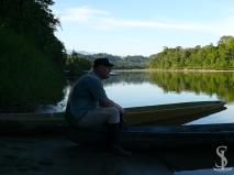 Dirk dreamy on the Arajuno river